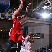 Maine Red Claws Guard DAVION BERRY (15) attempts a short range jump shot in the first half of a NBA D-league regular season basketball game between the Delaware 87ers and the Maine Red Claws Friday, Feb. 05, 2016 at The Bob Carpenter Sports Convocation Center in Newark, DEL.