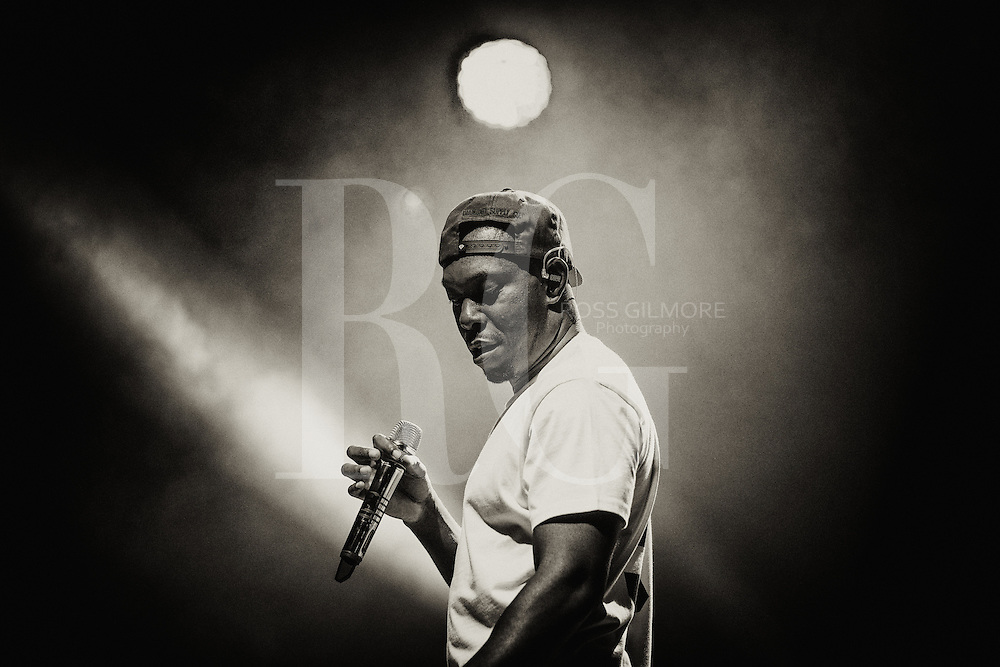 DUMFRIES, UNITED KINGDOM - JULY 25: Dizzee Rascal performs on stage at Wickerman Festival at Dundrennan on July 25, 2014 in Dumfries, United Kingdom. (Photo by Ross Gilmore