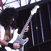 Guitarist Jake E Lee of Ozzy Osbourne at Castle Donnington Monsters of Rock Festival, England. Aug 1984.