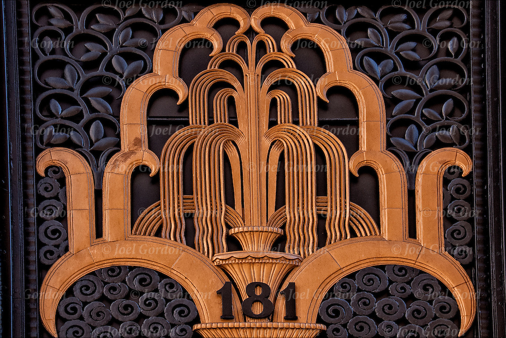 Art deco door and entrance of the madison belmont building for Neo art deco interior design