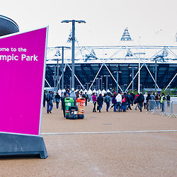 LONDON - MAY 6: London prepares series at the Oympic park in London on May 6, 2012. The London Prepares series is the official London 2012 sports testing programme.