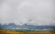 BOULDER, CO - SEPTEMBER 13: Heavy cloud cover over the University of Colorado campus and Boulder, Colorado as rains for the better part of week fueled widespread flooding in numerous Colorado towns on September 13, 2013. (Photo by Marc Piscotty/ © 2013)