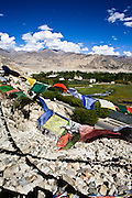 Prayer flags Leh valley.