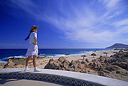 Image of a tourist enjoying Cabo San Lucas, Baja California Sur, Mexico, model released