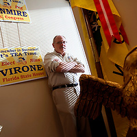 ORLANDO, FL -- October 21, 2010 -- Florida Tea Party chairman Fred O'Neal poses for a portrait at the Florida Tea Party offices in Orlando, Fla., on Thursday, October 21, 2010.