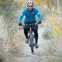 Mountain biking on Lower Rock Creek with fall color.
