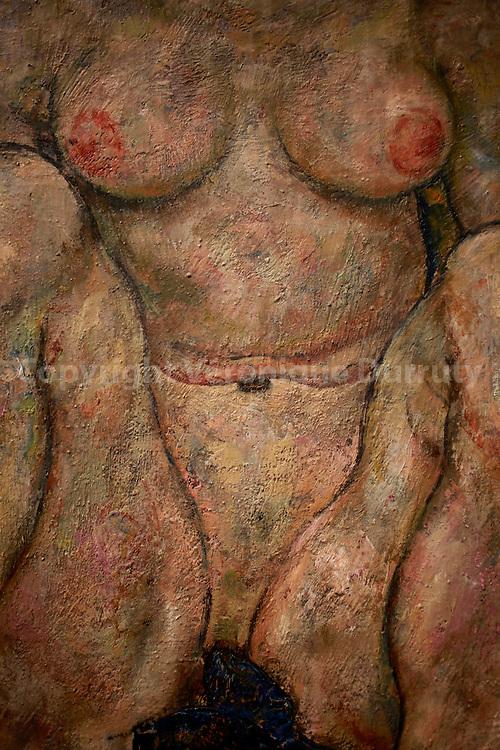 Egon Schiele, Hockendes Frauenpaar, 2 squatting women, ( detail )  1918, Leopold Museum, Vienna, Austria // Egon Schiele, Hockendes Frauenpaar, 2 femmes accroupies, ( detail )  1918, Musee Leopold, Vienne, Autriche