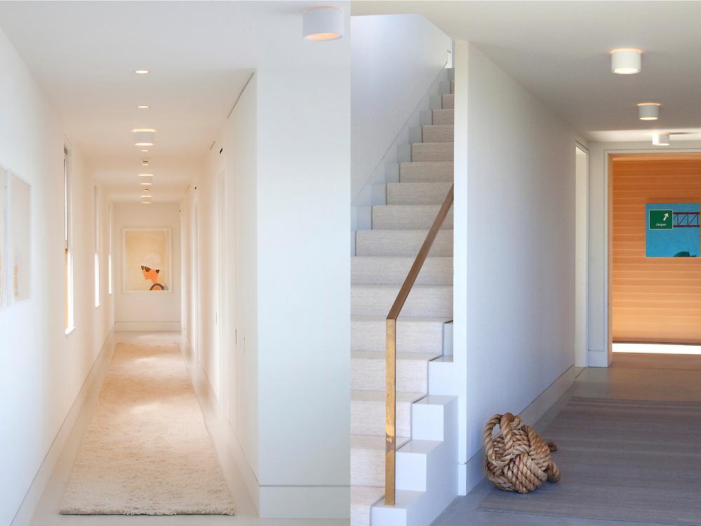 Martha's Vineyard house. Stairs and hallway. Architect: Claudia Noury-Ello. Designer: Christine Lane Interiors