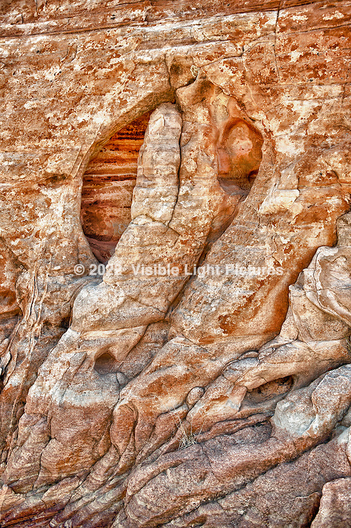 Rock formation at Valley of Fire State Park, Nevada.