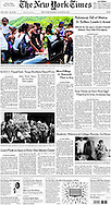 "THE NEW YORK TIMES. A1. ""More Killings In Venezuela Than in Iraq"" by Simon Romero. August 23, 2010."