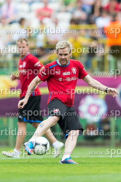 09.06.2012, Stadion Oporowski, Breslau, POL, UEFA EURO 2012, Tschechische Republik, Training, im Bild TOMAS HUBSCHMAN Czech Republic // during the during EURO 2012 Trainingssession of Czech Nationalteam, at the stadium Oporowski, Breslau, Poland on 2012/06/09. EXPA Pictures © 2012, PhotoCredit: EXPA/ Newspix/ Sebastian Borowski..***** ATTENTION - for AUT, SLO, CRO, SRB, SUI and SWE only *****
