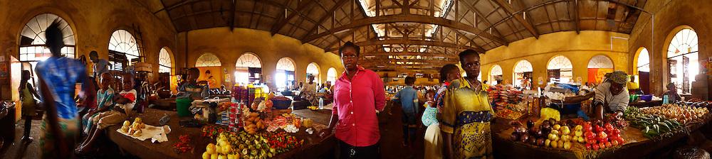 Isatu and Fatu at Kroo Town Road Market, Kroo Bay Freetown, Sierra Leone.