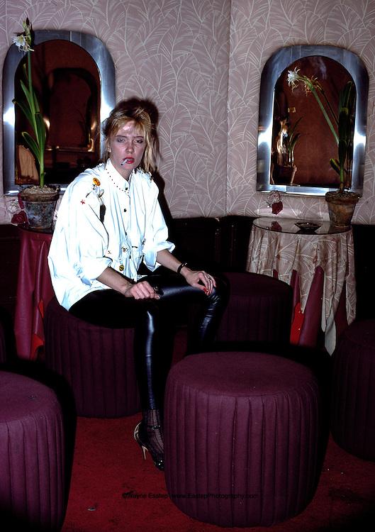 Vicky Wilson in ladies room at Studio 54, New York, NY