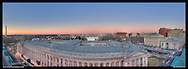 View of Washington, DC including The White House, U.S. Treasury Department and Washington Monument. Print Size (in inches): 15x5.5; 24x9; 36x13; 48x17.5; 60x22; 72x26.5