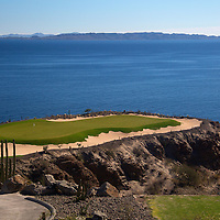 Mexico, Baja California Sur, Loreto. Danzante Bay golf course, designed by Rees-Jones, at Villa del Palmar Loreto.