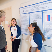 Students present research during Gonzaga's  Fall Family Weekend on Oct. 9. (Photo by Edward Bell)