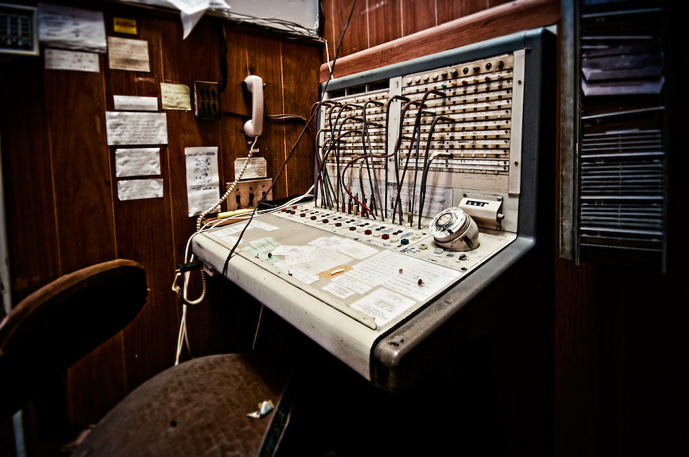 "An old phone switchboard in the Abandoned Hotel Adler in Sharon Springs NY New York. This image was the grand prize winner in Ron Howard and Canon's Project Imaginat10n and inspired the short film ""Out of the Blue"" starring (and directed by) Eva Longoria."