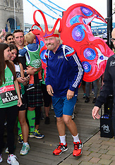SEPT 17 2014 Sir Richard Branson Virgin London Marathon fundraising photocall