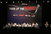 """Panel at The Hip Hop Research and Education Fund(HREF), PowerPAC and the HipHop Summit Action Network (HSAN) present the national """"HipHop Team Vote: Turn Up the Vote"""" campaign event held at Temple University's Liacouras Center Arena on April 20, 2008 ..The HipHop Team Voe: Turn up the Vote brings together hiphop stars and community activists to send a strong, clear message to 18-35 year olds about the importance of voting in the Pennsylvania primary and national presidential election."""