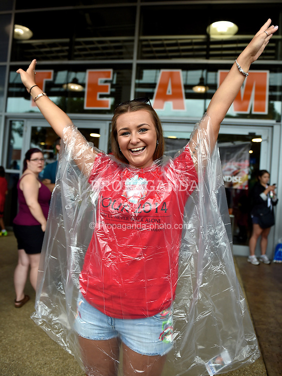 MIAMI, USA - Monday, August 4, 2014: Liverpool supporter Abbey Roberts from Northampton before the International Champions Cup Final match at the SunLife Stadium on day fifteen of the club's USA Tour. (Pic by David Rawcliffe/Propaganda)