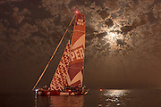 CAMPER with Emirates Team New Zealand near the finish of leg seven of the Volvo Ocean Race 2011 - 12 in Lisbon. 1/06/2012