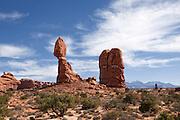 UT00128-00...UTAH - Balanced Rock in Arches national Park.
