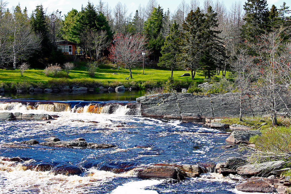 North America, Canada, Nova Scotia, Eastern Shore. Liscombe River at Liscombe Mills.
