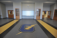 The entrance to the new gym at Oxford High School, in Oxford, Miss. on Thursday, March 27, 2014.