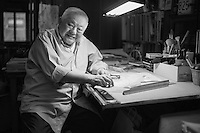 New York, NY (01.09.2014)  Environmental portraits of  accomplished set designer Ming Cho Lee, who is having a retrospective at the Yale School of Architecture.<br /> <br /> Photo by Robert Caplin