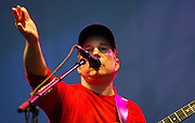 28/7/2002.Paul Simon pictured in action at the Smithwicks Source Festival in Nowlan Park on Saturday..Picture Dylan Vaughan.