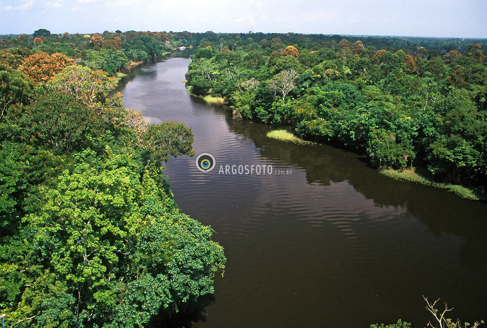 Amazonia,AM,Brasil.Ano 1997..Rio Ariau, vista aerea. A Amazonia e uma regiao na America do Sul, definida pela bacia do rio Amazonas e coberta em grande parte por floresta tropical. E a maior floresta tropical pluvial do mundo. E chamado tambem de Amazonia o bioma que, no Brasil, ocupa 49,29% do territorio, sendo o maior bioma terrestre desse pais, onde e constituida por varios ecossistemas./ Amazonia is a moist broadleaf forest in the Amazon Basin of South America. The Amazon Rainforest represents over half of the planet's remaining rainforests. Amazonian rainforests comprise the largest and most species rich tract of tropical rainforest that exists..Foto © Rubens Chaves/Argosfoto
