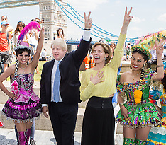 JUL 02 2014 Darcey Bussell and Boris Johnson warm up for Big Dance
