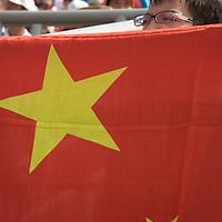 Women's semi-finals beach volleyball 2008 Olympics Beijing.