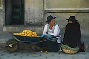 Campesino women selling fruit in the Tarabuco market, Chuquisaca, Bolivia