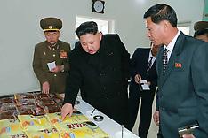NOV 17 2014 Kim Jong Un inspecting  foodstuff-processing factory