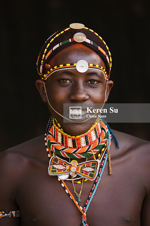 Samburu tribesman, Samburu, Kenya