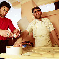 Cooks in a Kurdish restaurant in Istanbul, Turkey.