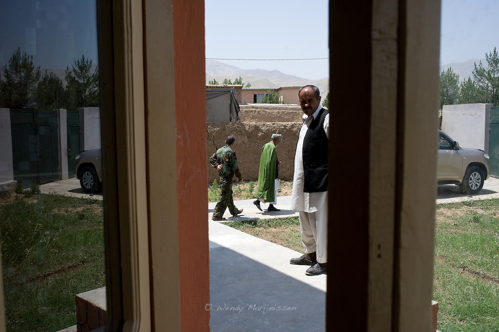 A contant stream of visitors come and go while MP Ms. Fawzia Koofi visits her home province Badakshan. Faizabad, Afghanistan, 2012