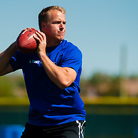 2/18/13 11:35:03 AM -- Bradenton, FL, U.S.A. -- NFL prospect and former USC quarterback Matt Barkley works out at IMG Academy in Bradenton, Fla., in preparation for this year's NFL Combine.  -- ...Photo by Chip J Litherland, Freelance