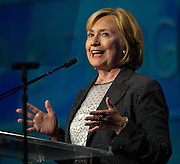 Former Secretary of State Hillary Rodham Clinton speaks during the Clean Energy Summit at the Mandalay Bay on Thursday, September 4, 2014.  L.E. Baskow