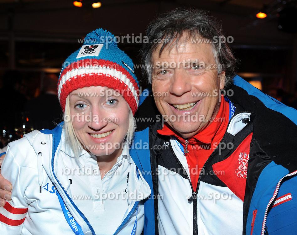 13.02.2014, Austria Tirol House, Krasnaya Polyana, RUS, Sochi, 2014, im Bild IRASCHKO STOLZ, PETER SCHRÖCKSNADEL // IRASCHKO STOLZ, PETER SCHRÖCKSNADEL during the Olympic Winter Games Sochi 2014 at the Austria Tirol House in Krasnaya Polyana, Russia on 2014/02/14. EXPA Pictures © 2014, PhotoCredit: EXPA/ Erich Spiess