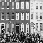 WASHINGTON, USA - APRIL 21: Thousands march through the streets of Baltimore to seek justice for the death for Freddie Gray who died from injuries suffered in Police custody in Baltimore, USA on April 21, 2015.