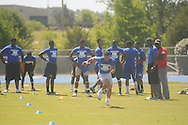 Water Valley quarterback E.J. Bounds runs at the Southeast Select Combine in Tupelo, Miss. on Saturday, May 25, 2013.