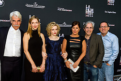 LOS ANGELES, CA - JUNE 10: Actors Sam Elliott, Judy Greer, Julia Garner, Lily Tomlin, Marcia Gay Harden and director Paul Weitz attends the opening night premiere of 'Grandma' during the 2015 Los Angeles Film Festival at Regal Cinemas L.A. Live on June 10, 2015. Byline, credit, TV usage, web usage or linkback must read SILVEXPHOTO.COM. Failure to byline correctly will incur double the agreed fee. Tel: +1 714 504 6870.