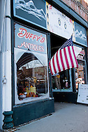 Butte, Montana, antiques, American Flag, uptown