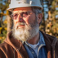 ANTHC porject supervisor Jerry Cnossen directs work at the Dam project in the village of Ouzinkie on Spruce Island, 12 miles N., NW. of Kodiak, Alaska