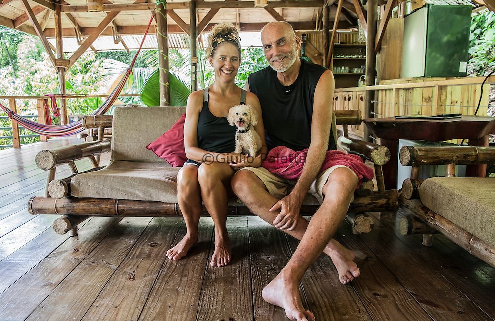 """Sandy and David, owners of """"Casa Paraiso"""", one of the most beautiful tree houses of Finca Bellavista"""