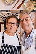 Carolina  and Mañuel Oliveira at Tasquinha do Oliveira restaurant in Évora, Alentejo