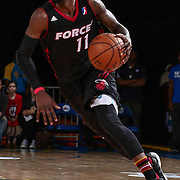Sioux Falls Skyforce Guard BRIANTE WEBER (11) dribbles up the floor in the second half of a NBA D-league regular season basketball game between the Delaware 87ers and the Sioux Falls Skyforce Friday, Mar. 25, 2016, at The Bob Carpenter Sports Convocation Center in Newark, DEL.