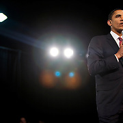 Barack Obama holds a rally during his campaign for the Democratic nomination for President at the North Carolina State Fairgrounds, Raleigh, North Carolina, April 17, 2008.